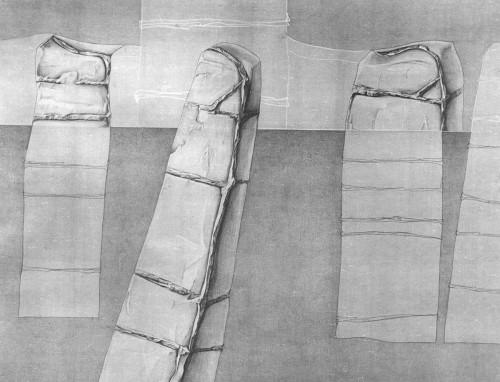 Marilena Preda Sânc, Landscape Reconstruction, Drawing, Eastwards Prospectus, 1982, photocredit: courtesy of the artist