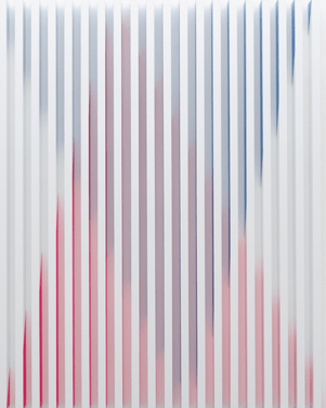 Rana Begum, No. 528, lacquer on aluminium, 2014, Christian Lethert Gallery, photocredit: courtesy of the artist