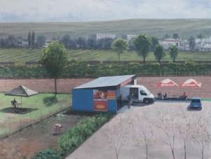 Serban Savu, Untitled, oil on canvas, 144 x 190 cm, 2012, Galeria Plan B, photocredit: courtesy of the gallery