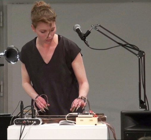 Ulla Rauter performing at Museum Bruneck, 2016, (c) the artist