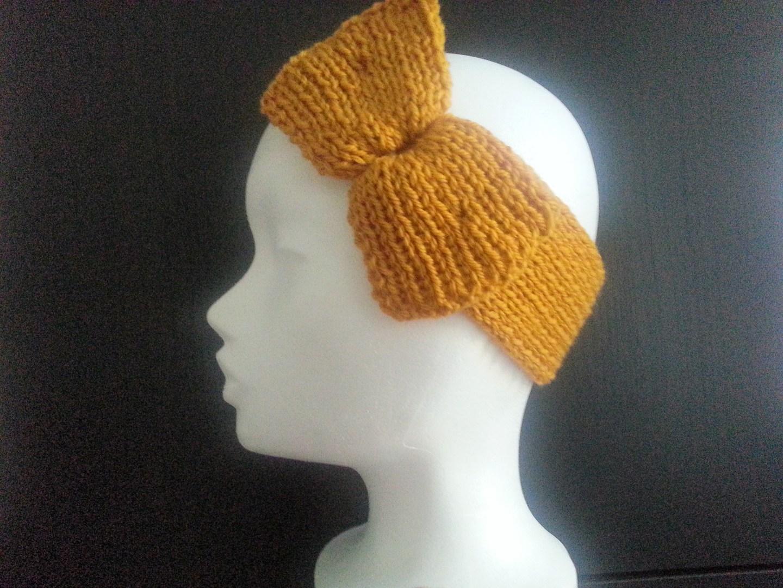 kostenlose Strickanleitungen: Stirnband mit Masche