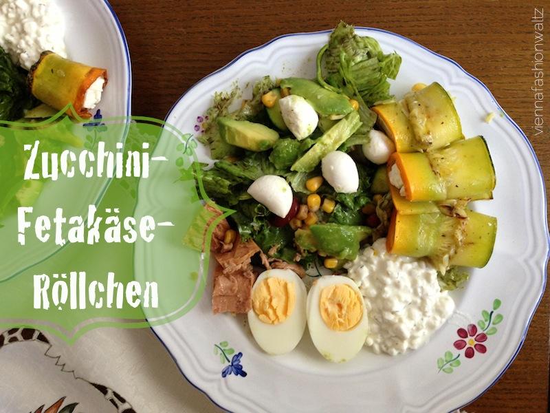 01 Zucchiniröllchen mit Fetakäse Zucchini-Fetakäse-Röllchen