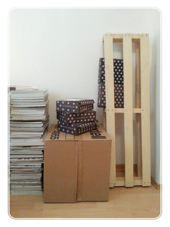 Glossybox, DIY, Regal, Basteln, Tapetenkleister, Karton, Upcycling, Do It Yourself,Schmincktisch,Wohnen, Tipps