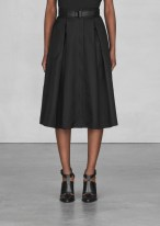 Belted A-line midi skirt € 95,00