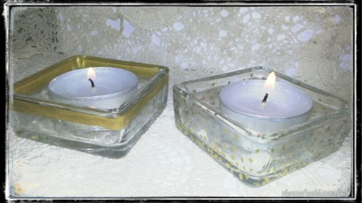 DIY - Goldverzierte Kerzenständer