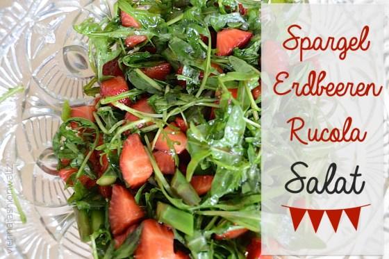 Spargel Erdbeeren Rucola Salat