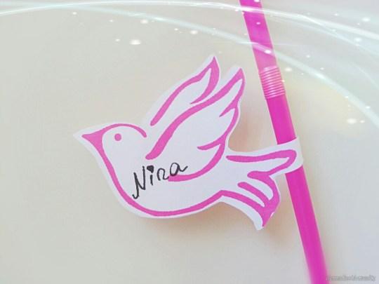 DIY Party Deko - Strohhalme mit Flamingos zum Ausdrucken! Print it!