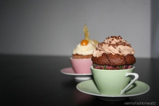 Cupcake mit Nutella-Topping