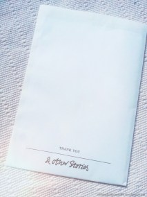 ...sogar die Rechnung kommt im elegenten Umschlag!