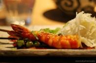 Kushiyaki -Garnele & Spargel