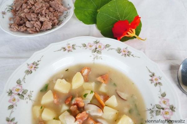 Schwammerlsuppe mit Heidensterz Rezept, Leckere Buchweizen Suppeneinlage