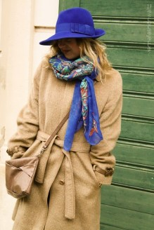 Vintage Kamelhaar Mantel und Vintage Hut