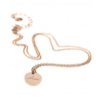 New One LOVE Kette Edelstahl rosé vergoldet € 25,00 Blog Vienna Fashion Waltz (2)