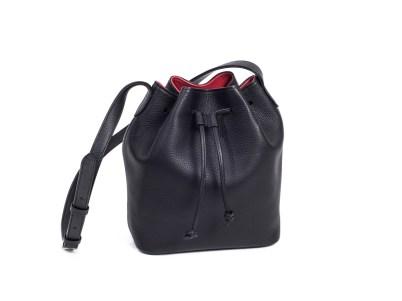 Horn handbag-cinchsack-kid-black-1