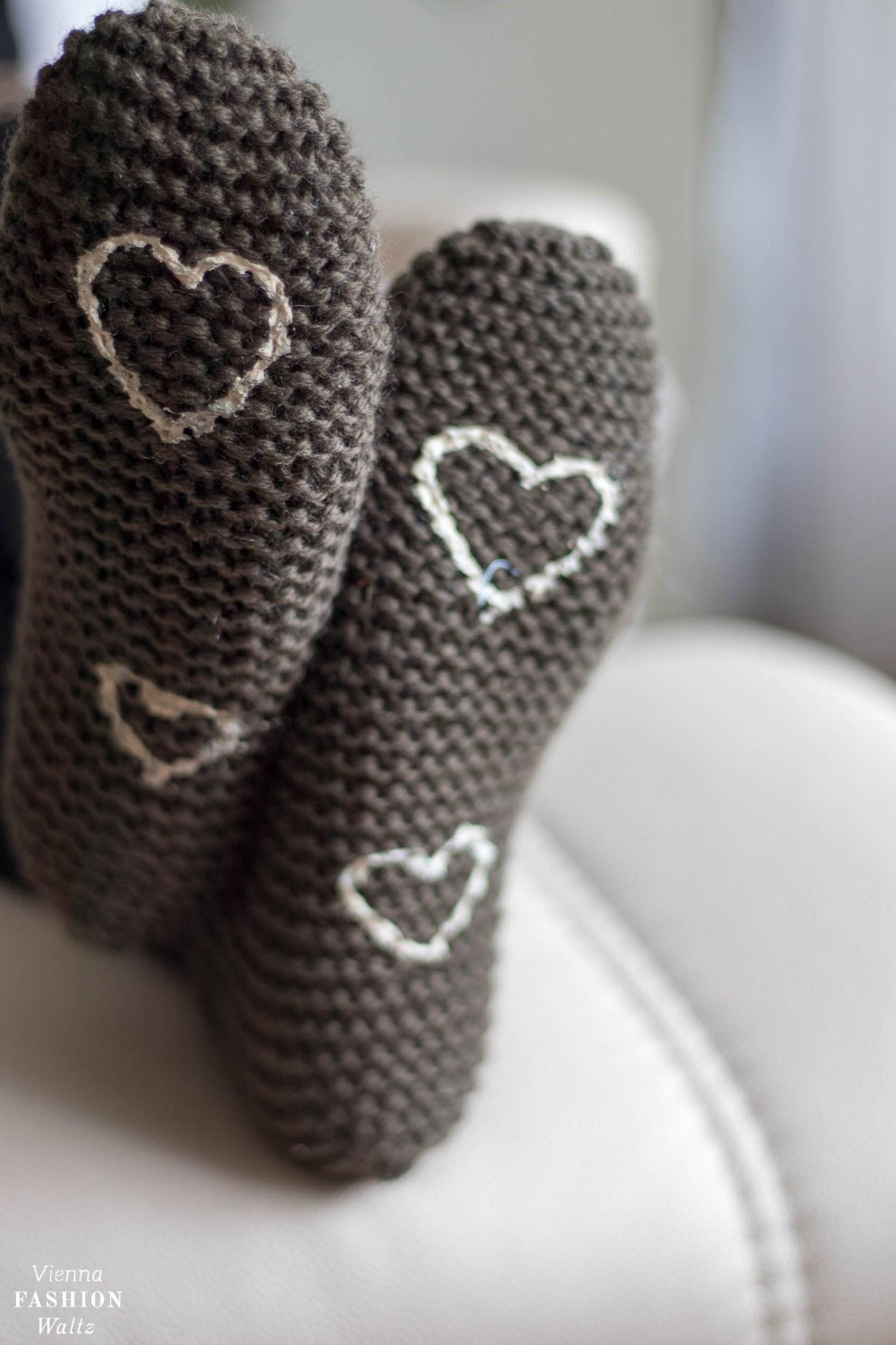 Haussschuhe stricken, Anleitung