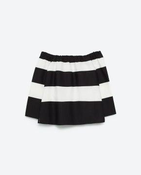 Schulterfreie Bluse Zara