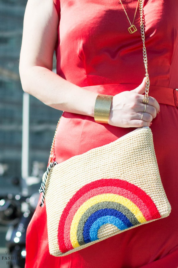 Hot Summer in the City, Vienna, VIC, Red Dress, Perfect Summer Dress, we bandits bag, straw bag, Hoegl shoes