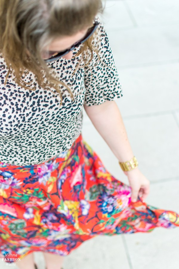 Blumenprints im Trend & Styling Tipps   Print Mix Outfit   Blogger Style, Fashion Streetstyle, Wien Belvedere