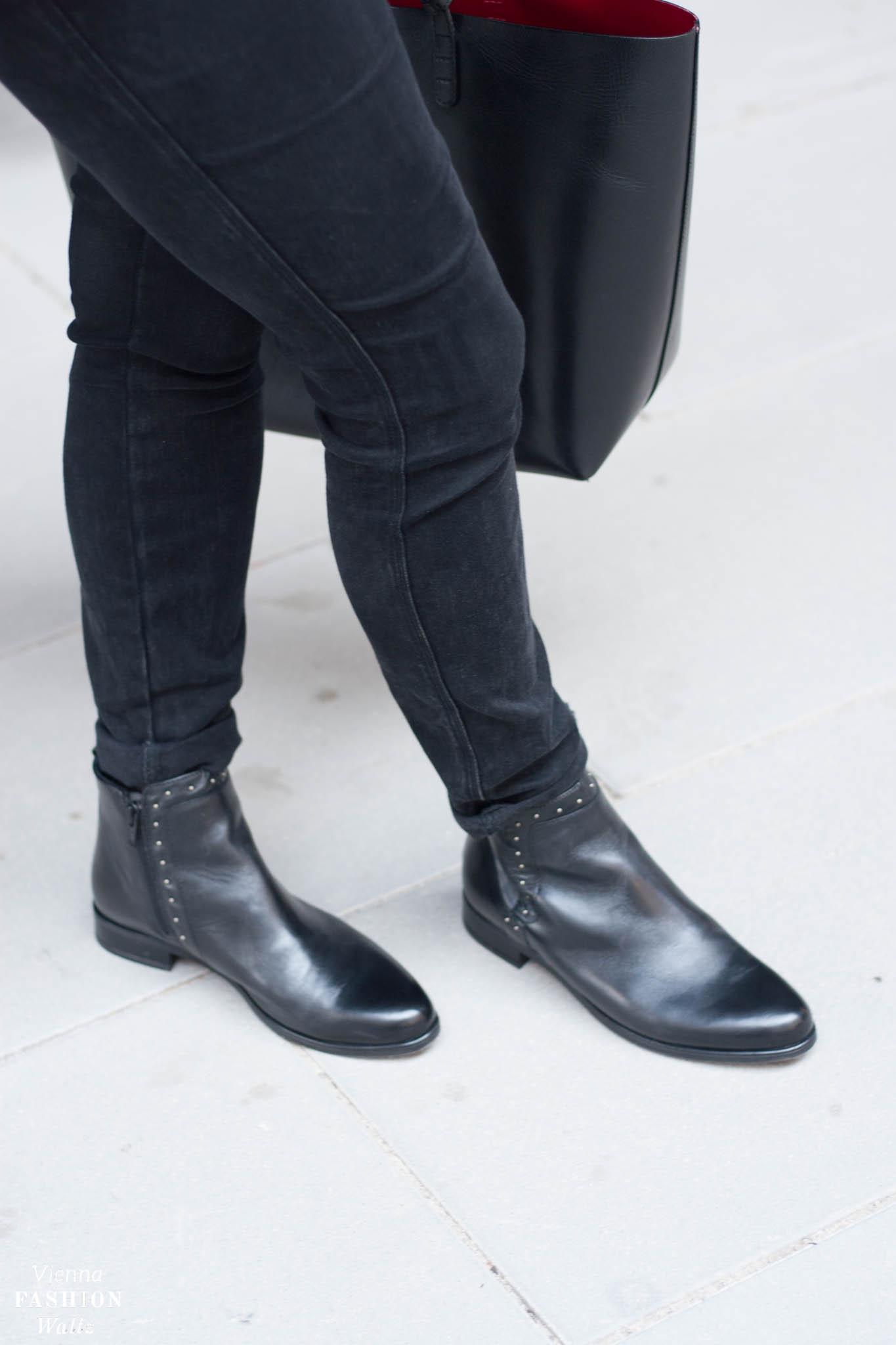 Blumentrend im Herbst Bürolook Mansur Gabriel Deichmann Boots Vienna Fashion Waltz Blog