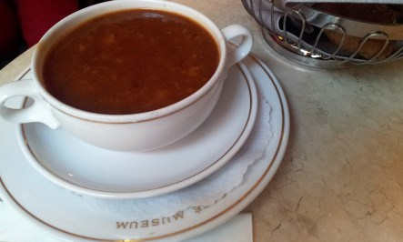 The Gulaschsuppe (Goulash soup)