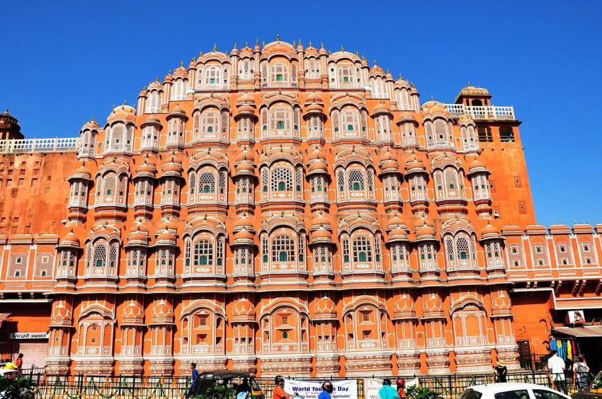 Façade du Palais des vents de Jaipur