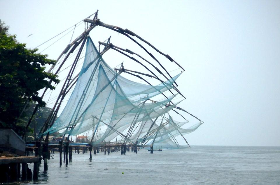 Les fameux pêcheurs au carrelet de Fort Kochi