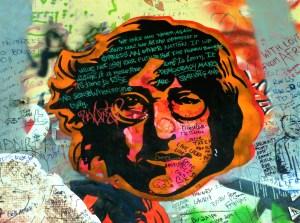 Prague le mur John Lennon