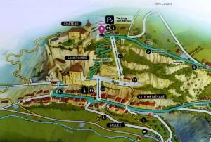 Plan visite Rocamadour