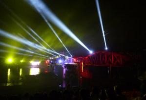 Kanchanaburi pont illuminé