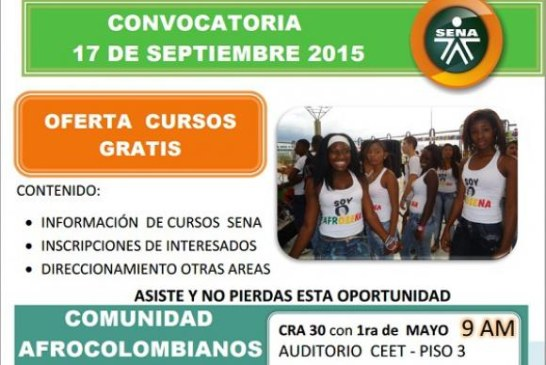 Jornada de servicios SENA para comunidad afro en Bogotá