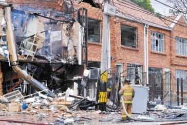 Explosión en el barrio San Luís, de la localidad de Teusaquillo