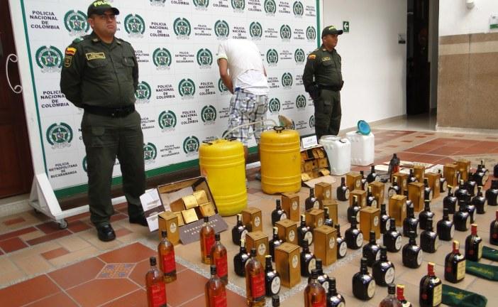 Operativo en contra del licor adulterado en el centro de Bogotá