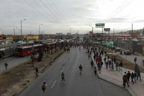 Nuevos bloqueos en TransMilenio afectan sur de Bogotá