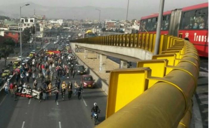 Arranca jornada de protestas y movilizaciones en Bogotá