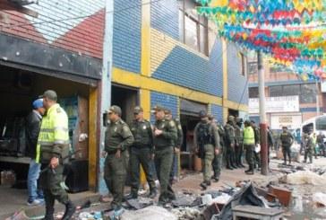 Desórdenes en el centro de Bogotá tras operativo en el Bronx