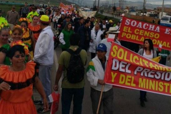 Habitantes de Soacha marchan para rechazar «Abandono estatal»