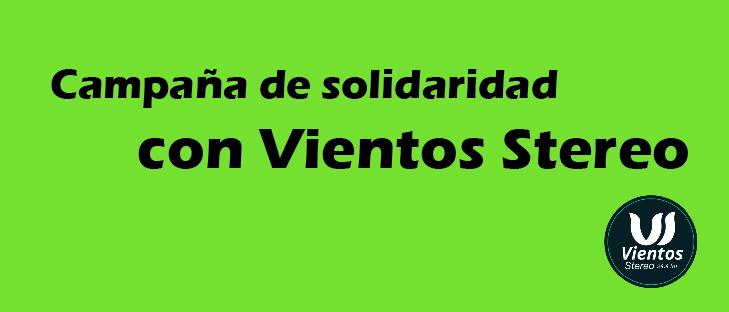 Campaña solidaridad Vientos Stereo