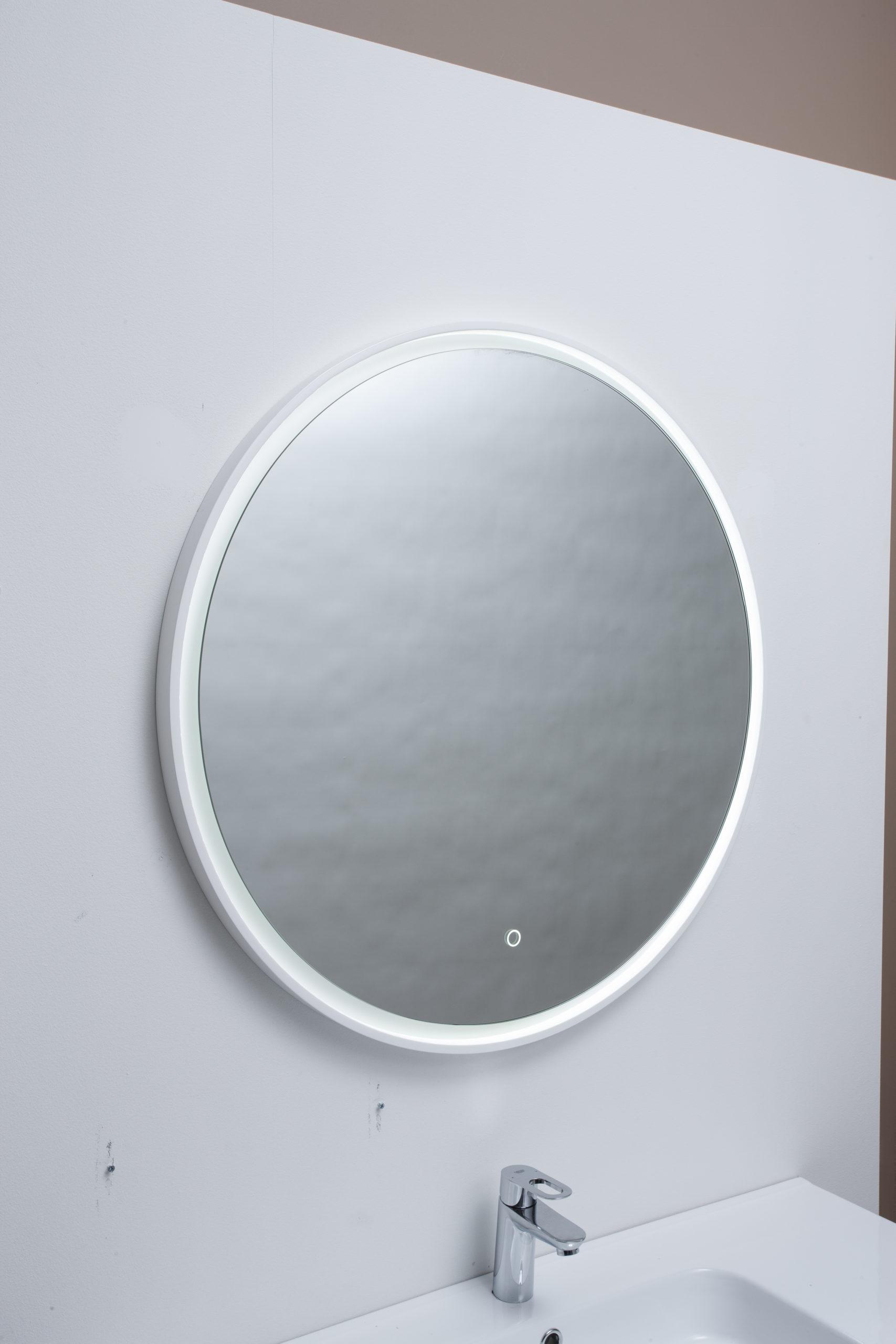 Fano Spejl O80 Med Led Lys Ramme Spar 50 Pa Fano Spejl I Ramme