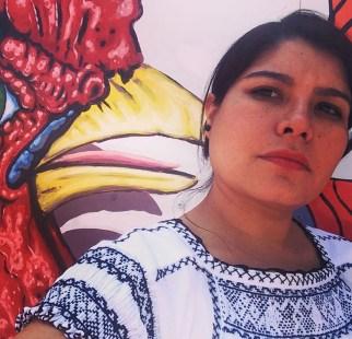 Blusa con bordado de Tlaxcala.