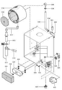 7248824 Vitodens 200-W WB2B 26kW System Gas Boiler