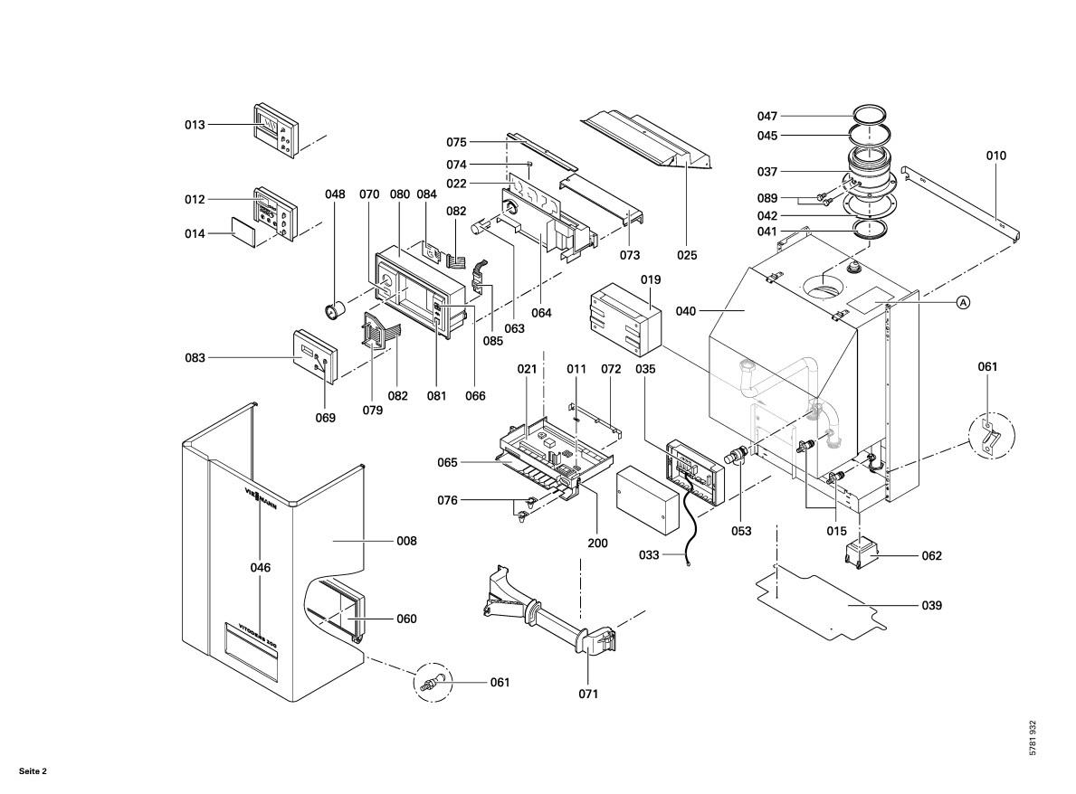 Vitodens 200 W Wb2 44kw System Boiler