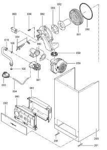 7248590 Vitodens 100-W WB1A 24kW Combi Gas Boiler