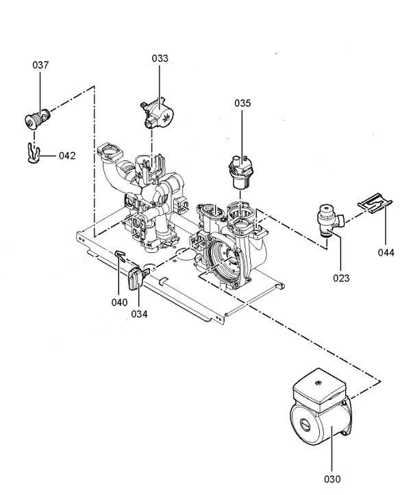 Vitodens 100-W WB1B 30kW System Boiler Hydraulic Block