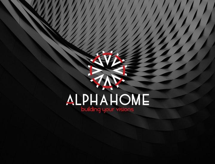 Thiết kế logo Alphahome