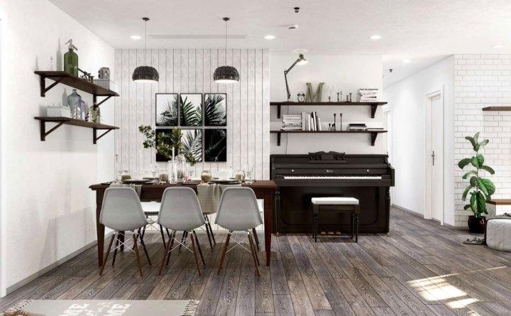 thiết kế nội thất chung cư 96m2
