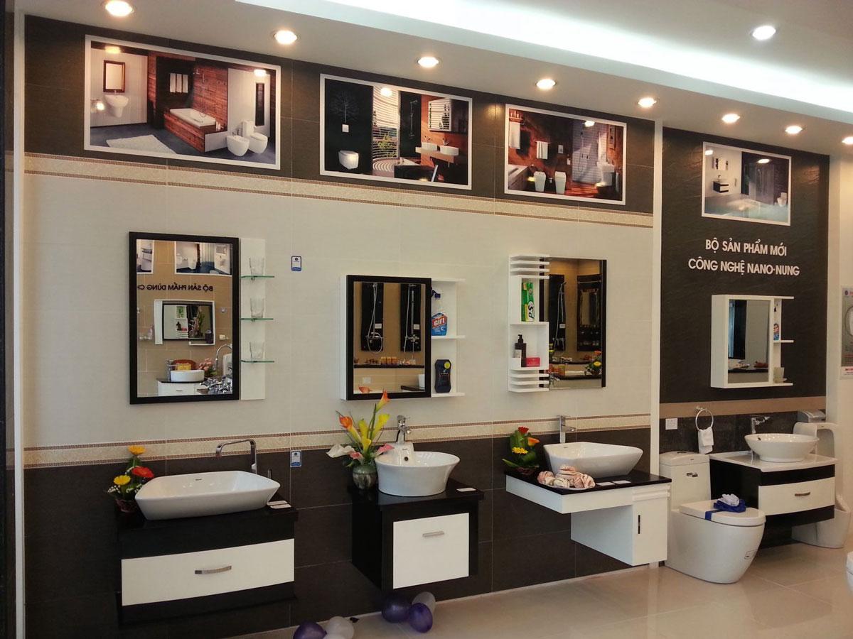 thiết kế nội thất cửa hàng thiết bị vệ sinh