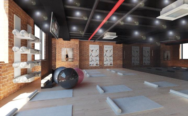 thiết kế phòng tập thể dục thẩm mỹ
