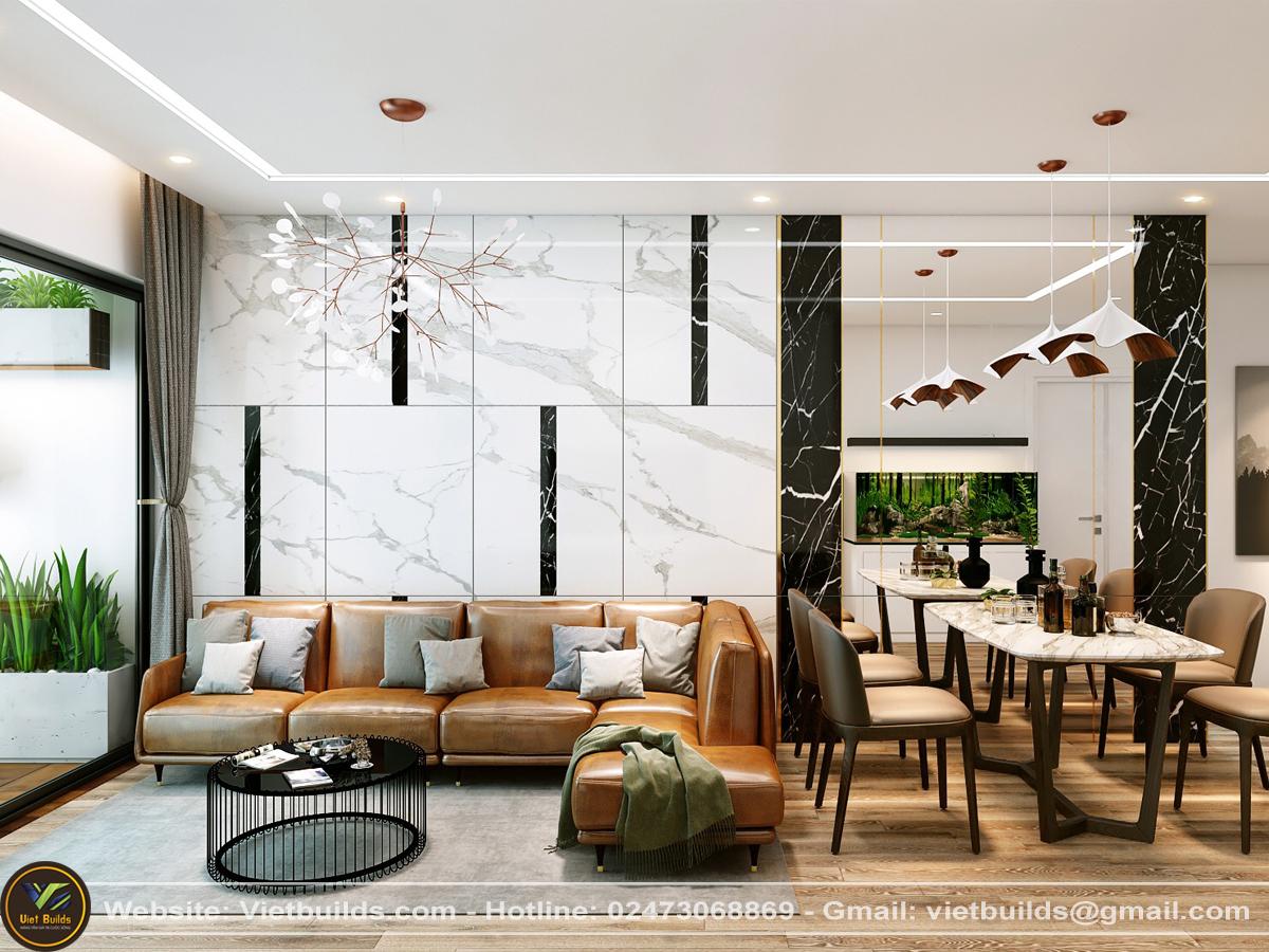 thiết kế nội thất căn hộ chung cư Skylake Garden