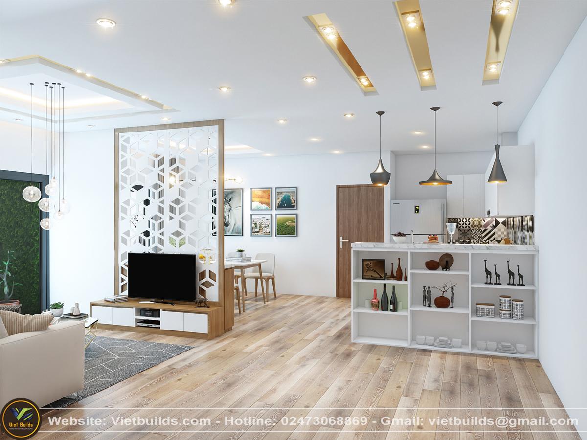 dự án thiết kế nội thất chung cư 2 PHÒNG NGỦ của Anh Lộc