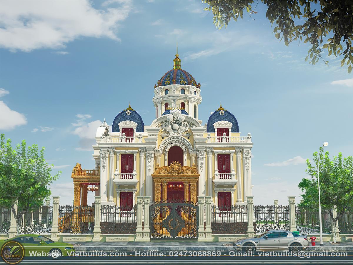 Giới thiệu mẫu dinh thự 3 tầng kiểu Pháp KT18020 (CĐT: Anh A – Hà Nội)
